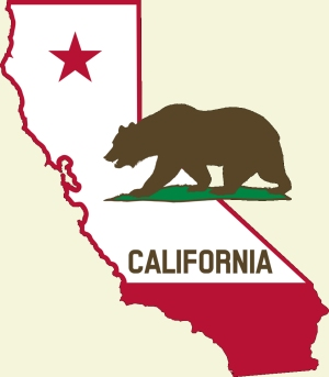 Proposition 65 illustration graphic with California and bear
